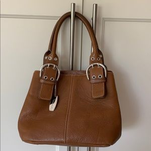 Authentic Tignanello leather handbag